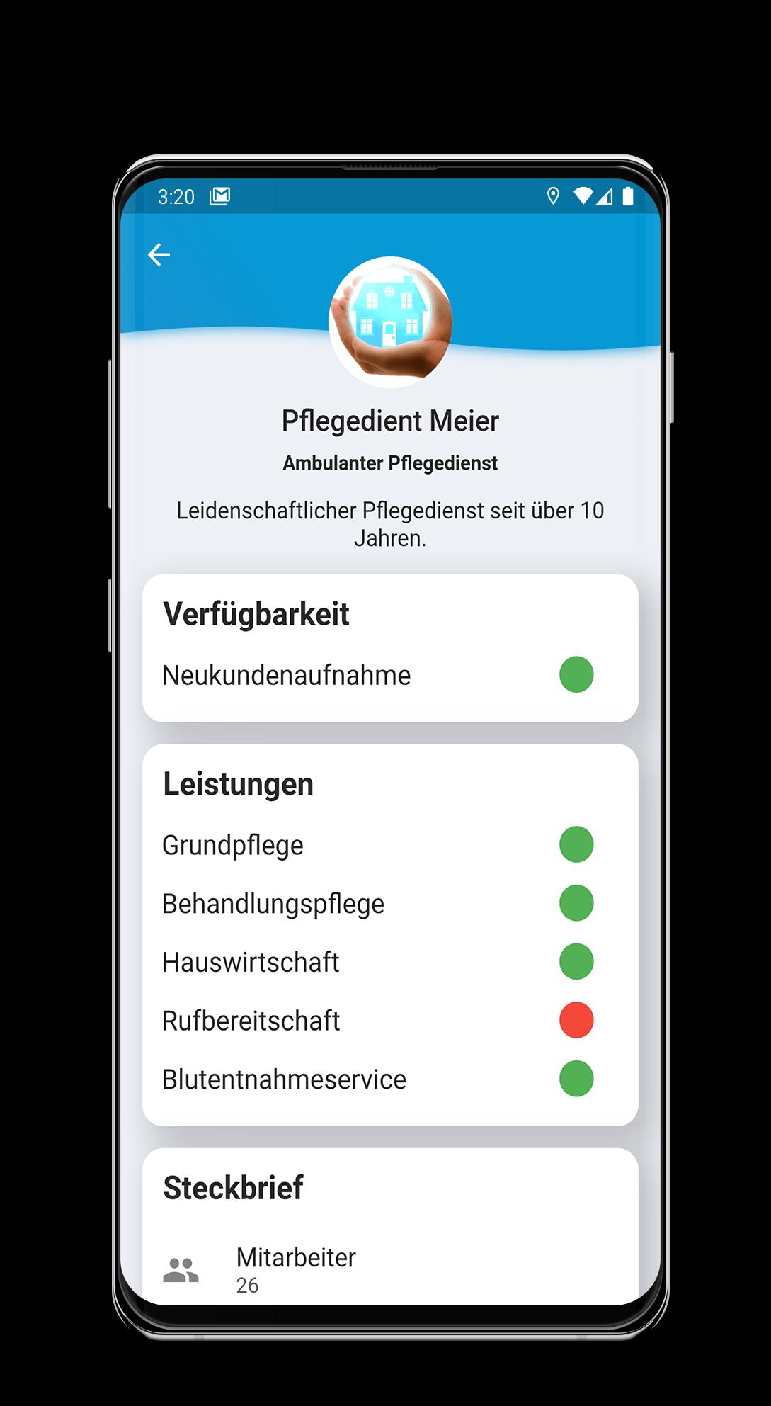 Kundenprojekt von PriorApps GmbH | App Entwicklung mit dem Namen Fürsorgefinder
